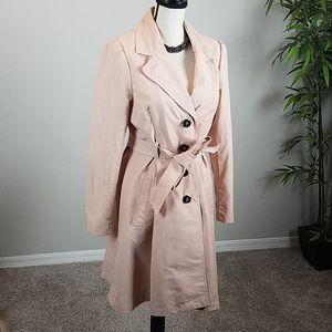 H & M Women's Trench Coat Light Pink